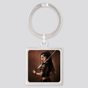 Woman Assassin With Sword Keychains