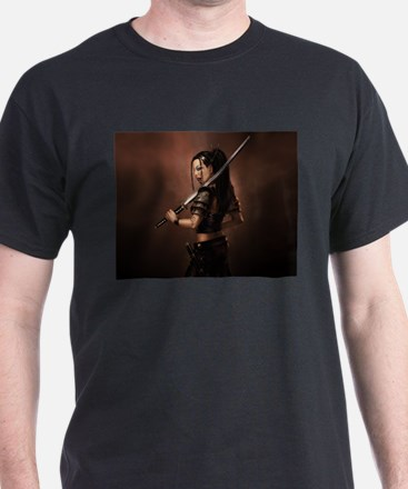 Woman Assassin With Sword T-Shirt