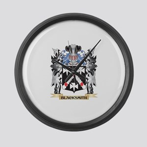 Blacksmith Coat of Arms - Family Large Wall Clock