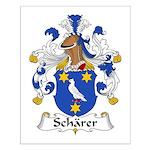 Scharer Family Crest Small Poster