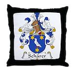 Scharer Family Crest Throw Pillow