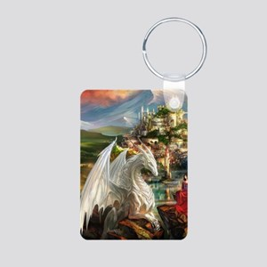 White Dragon In Fairy Land Keychains