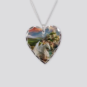 White Dragon In Fairy Land Necklace