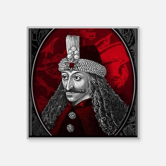 "Vlad Dracula Gothic Square Sticker 3"" x 3"""