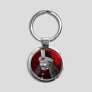 Vlad Dracula Gothic Round Keychain