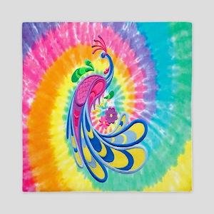 Rainbow Peacock Queen Duvet