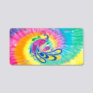 Rainbow Peacock Aluminum License Plate