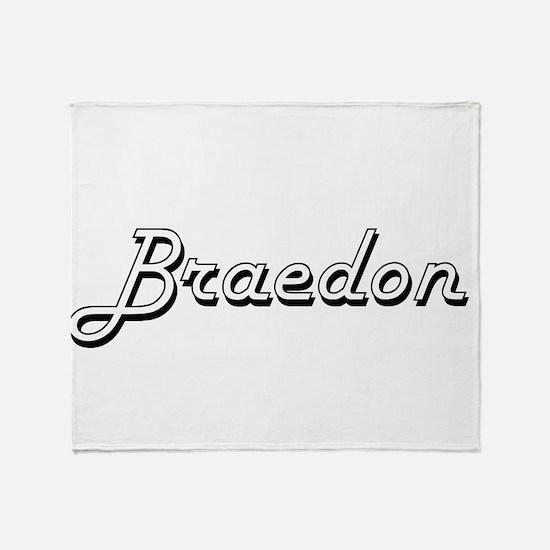 Braedon Classic Style Name Throw Blanket