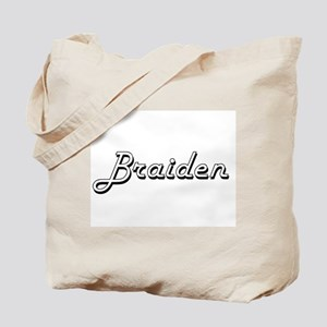 Braiden Classic Style Name Tote Bag