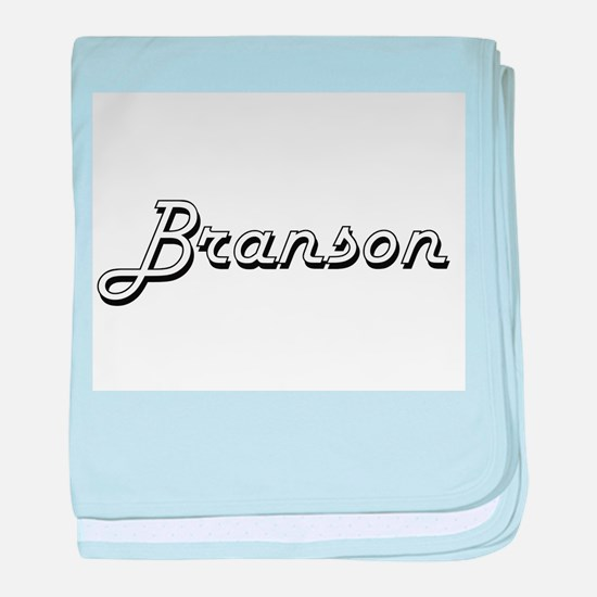 Branson Classic Style Name baby blanket