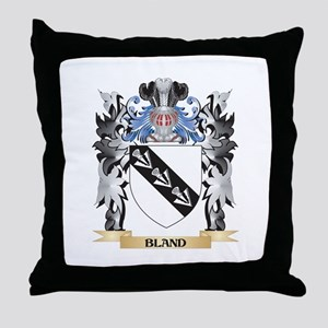 Bland Coat of Arms - Family Crest Throw Pillow