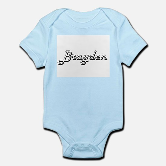 Brayden Classic Style Name Body Suit