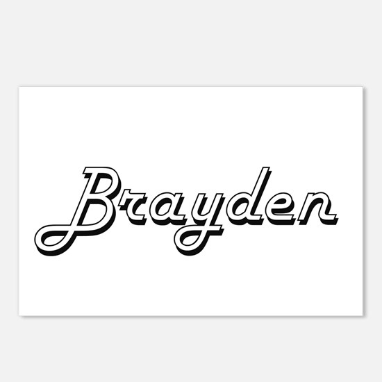 Brayden Classic Style Nam Postcards (Package of 8)