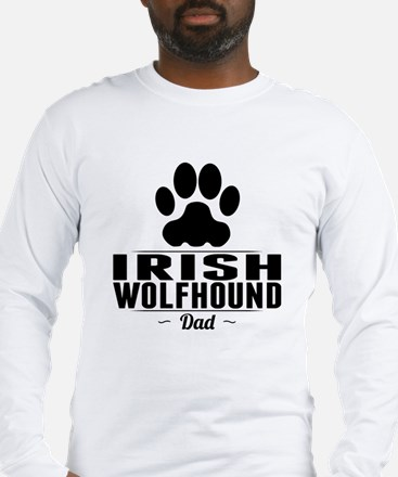 Irish Wolfhound Dad Long Sleeve T-Shirt
