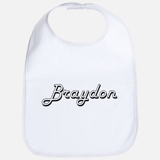 Braydon Classic Style Name Bib