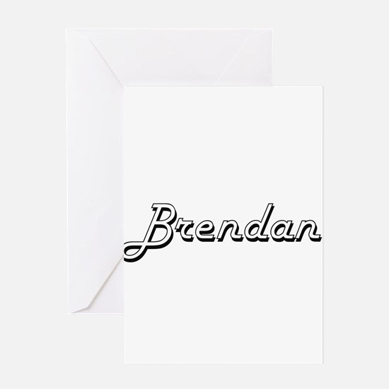 Brendan Classic Style Name Greeting Cards