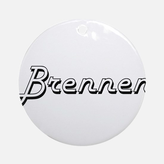Brennen Classic Style Name Ornament (Round)