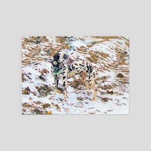 Dalmatian Terrain 5'x7'Area Rug