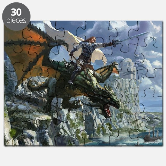 Warrior Riding Dragon Puzzle