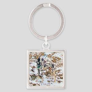 Dalmatian Terrain Square Keychain