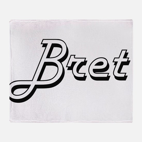 Bret Classic Style Name Throw Blanket