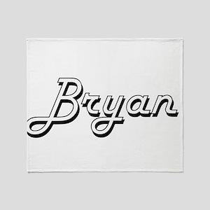 Bryan Classic Style Name Throw Blanket