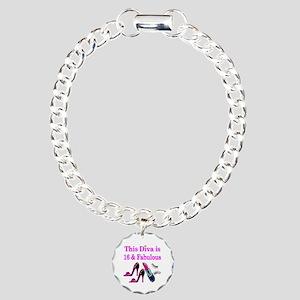 16 YR OLD PRINCESS Charm Bracelet, One Charm