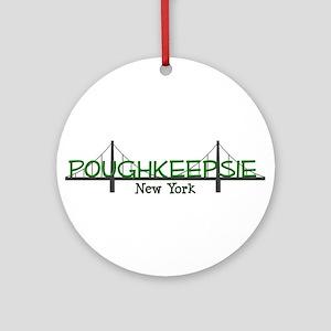 poughkeepsie ny tee copy Round Ornament