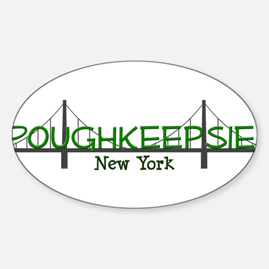 poughkeepsie ny tee copy.png Sticker (Oval)