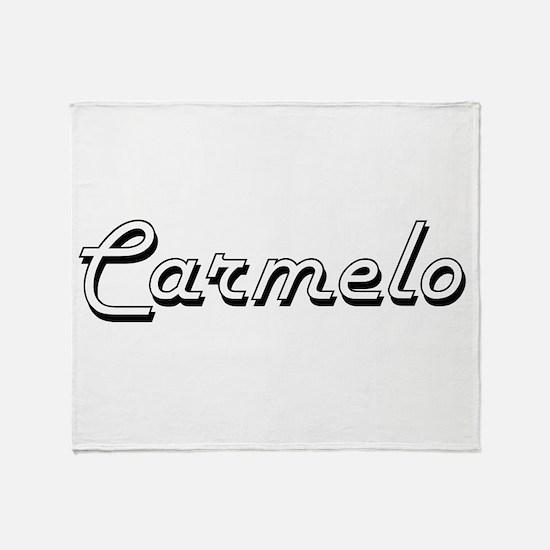 Carmelo Classic Style Name Throw Blanket