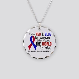 Pulmonary Fibrosis MeansWorl Necklace Circle Charm
