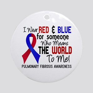 Pulmonary Fibrosis MeansWorldToMe Ornament (Round)