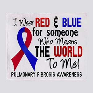 Pulmonary Fibrosis MeansWorldToMe2 Throw Blanket