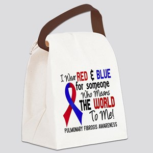 Pulmonary Fibrosis MeansWorldToMe Canvas Lunch Bag