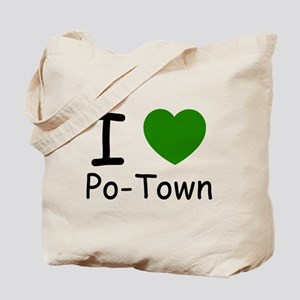 i heart green Tote Bag