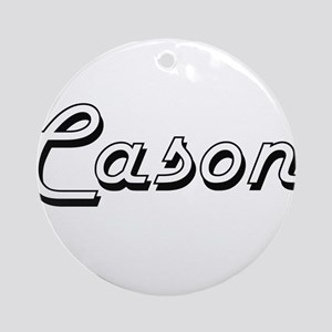 Cason Classic Style Name Ornament (Round)
