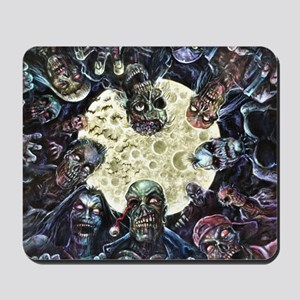Zombies Full Moon Attack Mousepad
