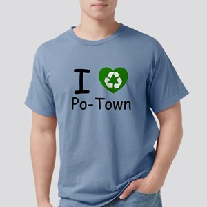 i heart potown recycle Mens Comfort Colors Shi