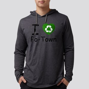 i heart potown recycle Mens Hooded Shirt