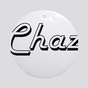 Chaz Classic Style Name Ornament (Round)