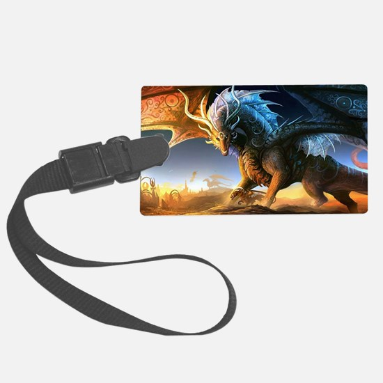 World Of Dragons Luggage Tag