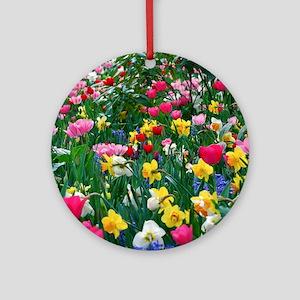 Flower Garden Ornament (Round)