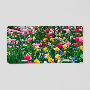 Flower Garden Aluminum License Plate