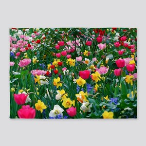 Flower Garden 5'x7'Area Rug