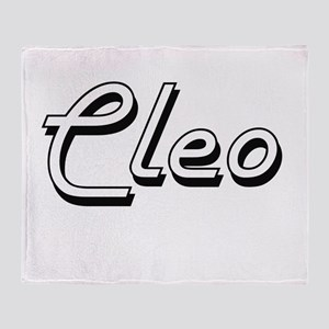 Cleo Classic Style Name Throw Blanket