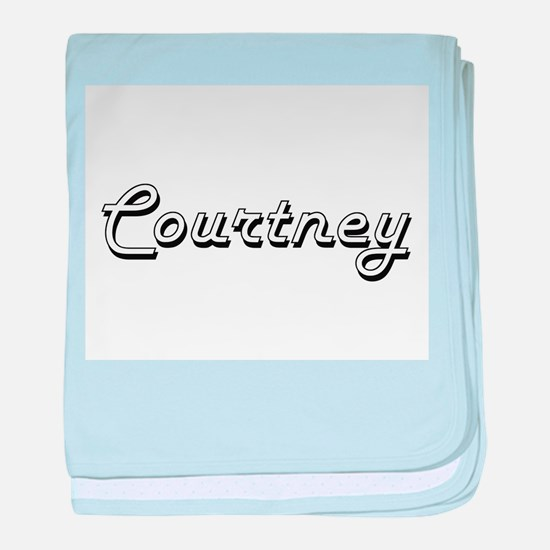 Courtney Classic Style Name baby blanket