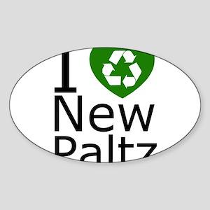 iheartnewrecycle Sticker (Oval)