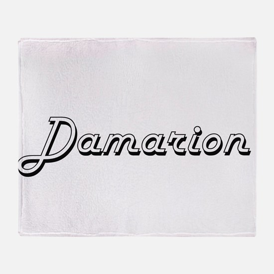 Damarion Classic Style Name Throw Blanket