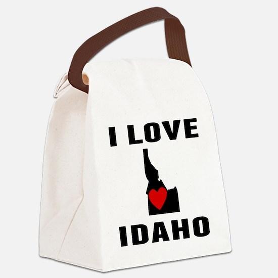 I Love Idaho Canvas Lunch Bag