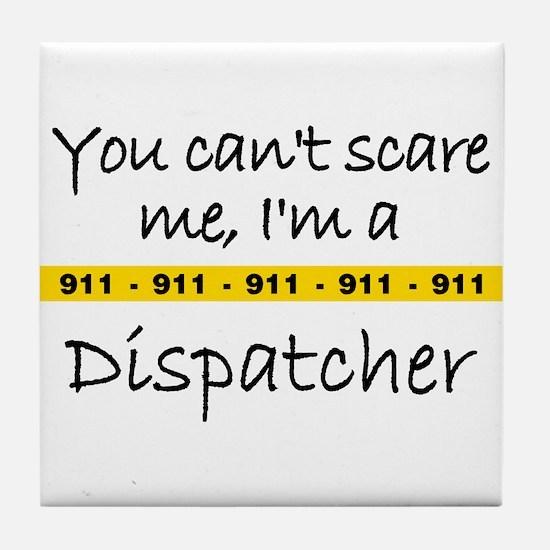 Police Tape Dispatcher Tile Coaster
